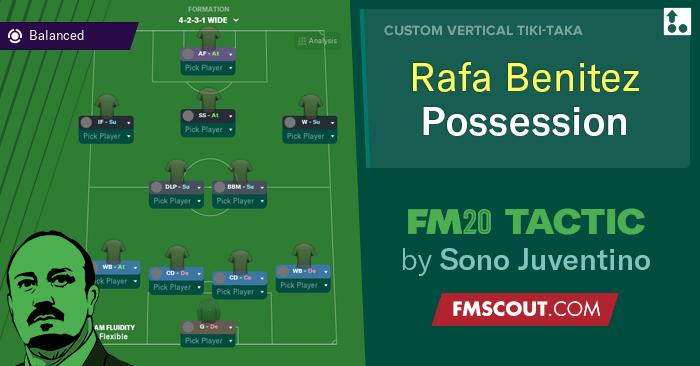 صورة Rafa Benitez 4-2-3-1 حيازة // FM20 Tactic